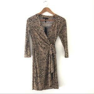 BCBGMaxAzria Leopard Print Wrap Dress NWT